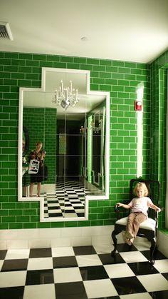 Green Subway Tile, Green Wall, Marble Tile, Commercial Bathroom, Bathroom Green, Green Tiles
