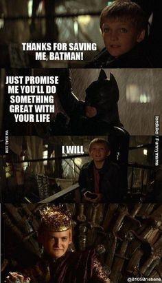 I did it Batman!