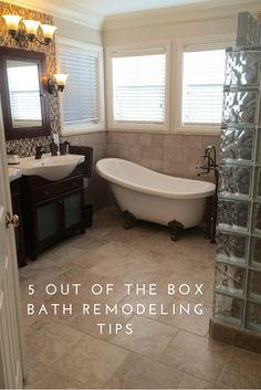 Learn 5 out of the box bathroom remodeling tips for your next project - http://blog.innovatebuildingsolutions.com/2015/10/02/5-box-remodeling-tips-master-bathroom/