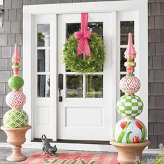 Make your spring and Easter greeting stand apart from the rest with our colorful and elaborately decorated Spring Tulip Topiary. You'll only find it here. Vine Wreath, Wreath Hanger, Spring Door, Porch Decorating, Decorating Ideas, Easter Crafts, Easter Ideas, Tulip, Holiday Decor