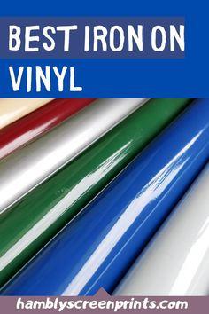 Top 5 Best Iron-on Vinyl Picks Iron On Vinyl, Vinyl Art, Vinyl Decals, Transfer Paper, Heat Transfer Vinyl, Best Iron, Siser Easyweed, Cricut, Vinyl Shirts