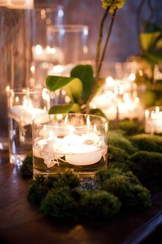 Atlanta Wedding at the King Plow Event Gallery by Melissa Schollaert Photography Deco Champetre, Autumn Fairy, Deco Nature, Deco Floral, Floral Design, Wedding Table Decorations, Tree Centerpieces, Wedding Centrepieces, Floating Candles