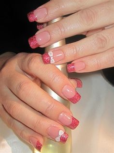 christmas bow by glamournailsdk from Nail Art Gallery