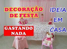 DECORAÇÃO DE FESTA SEM GASTAR NADA -  USANDO O QUE VOCÊ TEM EM CASA