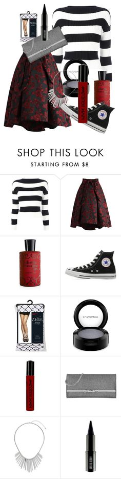 """mixed patterns"" by reincarnate-evilstuff ❤ liked on Polyvore featuring Boutique Moschino, Chicwish, Juliette Has A Gun, Converse, MAC Cosmetics, NYX, Jimmy Choo, Dorothy Perkins and Lord & Berry"