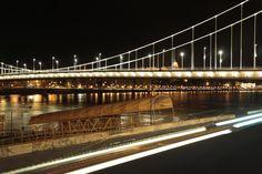 Photo by me. Photo: Diána Rigó Erzsébet híd - #ElisabethBridge #Budapest #night #view #CityLights #NightLights #bridge #LongExposure #photography
