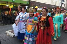 From Northern China, the Huaxing Arts Group at Parramasala, making their way towards Prince Alfred Park. (Photo: 702 ABC Sydney)