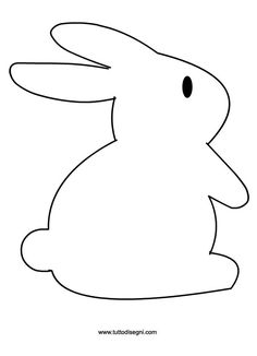Sagoma coniglio per lavoretti Pasqua - TuttoDisegni.com