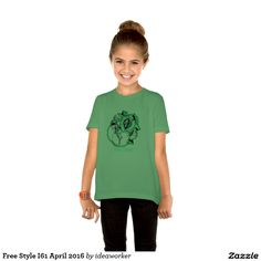 Free Style I61 Girls' Basic American Apparel T-Shirt (Color: Grass)   #design #fashion #freestyle #girl #tshirt