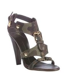 Camouflage Gold Buckle Sandals