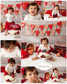 Trendy Ideas For Birthday Photoshoot Kids Valentines Day Birthday Cake Smash, First Birthday Cakes, Girl First Birthday, Man Birthday, 1st Birthday Photoshoot, One Year Birthday, Apple Theme, Birthday Photography, Cake Smash Photos