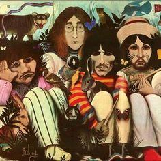 Original album cover for The Beatles, The White Album