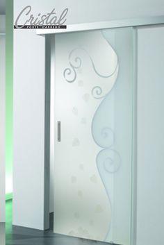porta scorrevole in vetro senza telaio 3245 - decoro soffi ... - Design Della Porta In Legno Moderno Con Vetro