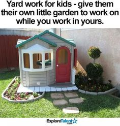This is such a great idea!! My kiddos will love having their own garden!