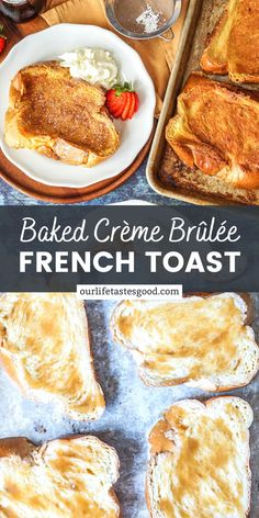 This Baked Creme Brulee French Toast recipe is an EASY, yet decadent, brunch recipe. With a golden caramelized outside and a creamy inside, Creme Brulee French Toast is melt in your mouth delicious!  #LTGrecipes #frenchtoast #cremebrulee #brunchrecipe #breakfastrecipe Easy To Make Breakfast, Egg Recipes For Breakfast, Delicious Breakfast Recipes, Breakfast Club, Perfect Breakfast, Brunch Recipes, Breakfast Ideas, Delicious Food, Creme Brulee French Toast