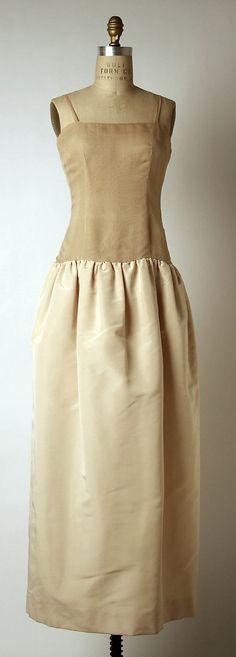 "The Metropolitan Museum of Art - ""Romancero"" House of Dior (French, founded 1947)  Designer: Yves Saint Laurent (French (born Algeria) Oran 1936–2008 Paris) Date: fall/winter 1960–61 Culture: French Medium: silk, nylon, beading. Under dress"