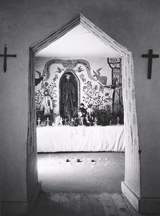 Interior, Penitente Morada, Espanola, New Mexico (ca. 1930)