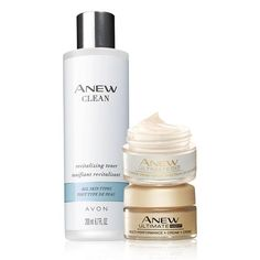 Valuedat $34.00, the trio includes:  Anew Clean Revitalizing TonerRevitalizing toner that instantly leaves skin feeling refined and conditioned while it improves the appearance of pores. With papaya extract. 6.7 fl. oz.