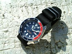 seiko vintage diver watch Skx009j nato band