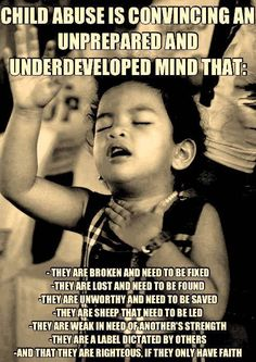 I think this every time I'm in church. The kids aren't given a chance to think for themselves.