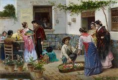 José Rico Cejudo. Andaluces en la venta, s.f. Colección Carmen Thyssen-Bornemisza en préstamo gratuito al Museo Carmen Thyssen Málaga