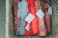 Gift your guests pashminas in your wedding colors if you think the reception might get chilly!