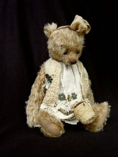 Marjorie One Of a Kind Girly Mohair Artist Bear by aerlinnbears