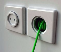Rambler Socket Built-in Wall Extension Cord - will be in my next interior design house design decorating home design