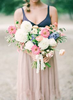 We love everything about this bouquet: http://www.stylemepretty.com/2015/03/03/bohemian-autumn-wedding-inspiration/ | Photography: Marianne Sabado - http://www.marianne-sabado.com/