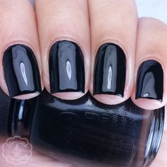 Liquid Leather by China Glaze part of the Ghouls Night Out Halloween 2015 Collection. Full review and more swatch photos available on my blog ManicuredandMarvelous.com.  #nail #nails #nailpolish #polish #swatch #polishswatch #chinaglaze