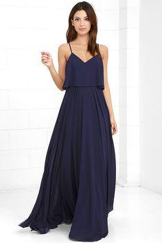 #AdoreWe #lovelulus Lulus Love Runs High Navy Blue Maxi Dress - AdoreWe.com