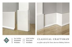 CLASSICAL CRAFTSMAN BASE MOLDING by WindsorONE, via Flickr  floor molding and plinth block - replace bathroom molding w/this?