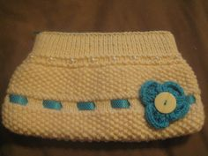 Hand Knitted Cream Clutch Bag £5.50