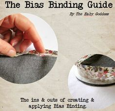 the trick to making sure your second row of stitching catches the back bias edge is all about the first stitching line and not the bias itself. Sewing Lessons, Sewing Hacks, Sewing Tutorials, Sewing Crafts, Sewing Projects, Sewing Patterns, Sewing Tips, Sewing Ideas, Sewing Binding