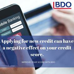 Did you know that applying for new credit can negatively effect your credit score?