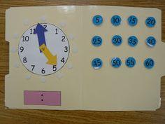T's First Grade Class: File Folder Clock File Folder Activities, File Folder Games, Autism Classroom, Classroom Activities, Future Classroom, Classroom Ideas, Student Teaching, Student Data, Math Teacher
