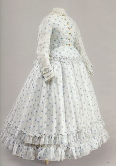 "Girl's summer dress ca. 1860 from ""Impressionism and Fashion"" at the Musee d'Orsay via nuescha"
