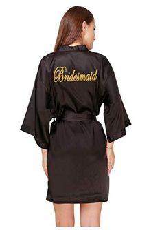 160a8bf818 Bridesmaid robes Sleepwear Robe Wedding Bride Bridesmaid Robes Pyjama Robe  Female nightwear Bathrobe Nightdress Nightgown(