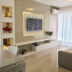 26 super Ideas for living room tv wall corner tvs Tv Unit Decor, Tv Wall Decor, Wall Tv, Tv Wall Mount, Living Room Furniture, Living Room Decor, Living Rooms, Furniture Layout, Furniture Arrangement