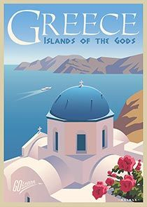 Go Learn! Education Travel with Continuing Education at the University of Utah Greece Poster Retro, Vintage Travel Posters, Vintage Ski, Pinturas Disney, Greece Islands, Room Posters, Travel Illustration, Aesthetic Collage, Photo Wall Collage