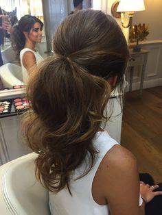 wedding hairstyle, bride, pigtail, Moncho Moreno