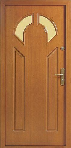 Drewniane wejściowe drzwi zewnętrzne do domu z katalogu modeli klasycznych wzór 537s2