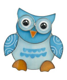 Blue Heart Owl Night-Light | zulily