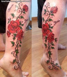 Foto tatuaje Rosas, Flores, Enredaderas