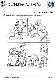 Cuaderno de Trabajo III - 5 Años Ciencia y Ambiente Picture Comprehension, Earth Day Activities, Sistema Solar, Digimon, Homeschool, Recycling, Religion, Doodles, Clip Art