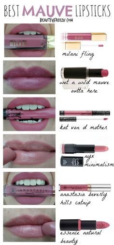 The 6 best mauve lipsticks. From a dusty rose to a pink mauve! Including lip swatches and all cruelty free.