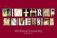 Collegiate Alphabet Art