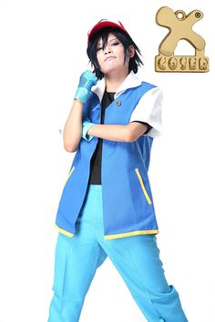 Pokemon Ash Ketchum Royal Blue Cosplay Costume in X-Large Size Xcoser >>> Continue to the product at the image link.