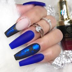 Enchanting Color Variations for Coffin Nails ★ See more: https://naildesignsjournal.com/coffin-nails-exciting-ideas/ #nails