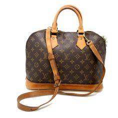 Louis Vuitton Signature Gm Alma Monogram Lv Canvas Leather Shoulder Bag